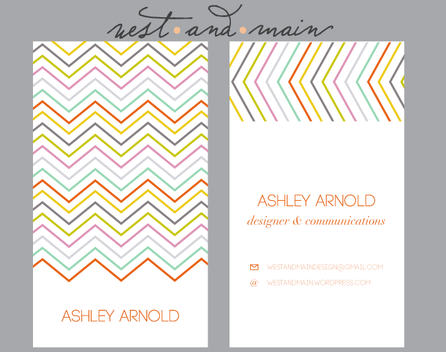 Business cards 2 Chevron